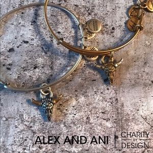 Alex and Ani Spirited Skull Bangle
